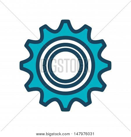 icon gear team work design isolated vector illustration eps 10