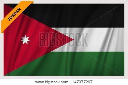 National flag of Jordan - waving edition