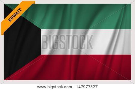 National flag of Kuwait - waving edition