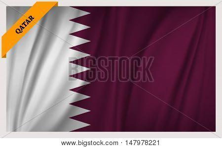 National flag of Qatar - waving edition