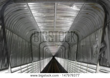 train tunnel with motion Blur  Moving in Deep tunnel under  space for text and May  be used as background :