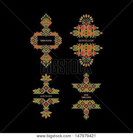 Decorative Design Element in Retro Style. Vector Calligraphic Template. Line Art Design for Invitations, Posters, Presentation. Element for Design. Vector Vintage Frame. Calligraphic Linear Element