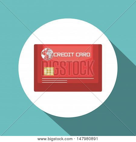 credit card blue travel design vector illustration eps 10