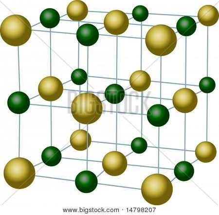 illustration with sodium chloride crystal structure