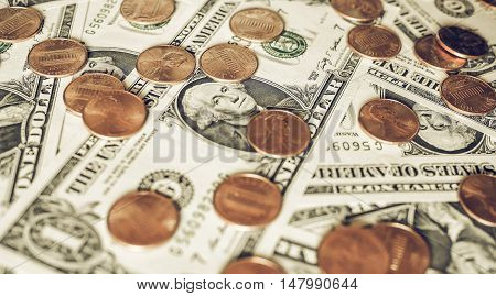 Vintage Dollar Coins And Notes