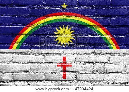 Flag Of Pernambuco State, Brazil, Painted On Brick Wall