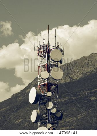 Vintage Looking Communication Tower