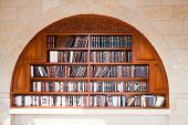 foto of tora  - Bookcase near the Wailing Wall in Jerusalem - JPG
