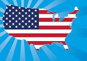 foto of usa flag  - US map with stars and stripes flag - JPG