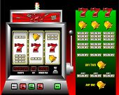 picture of poker machine  - lucky seven slot machine vector illustration - JPG