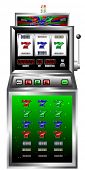 pic of poker machine  - lucky seven slot machine vector illustration - JPG