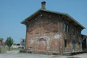 Railroad Depot Building poster