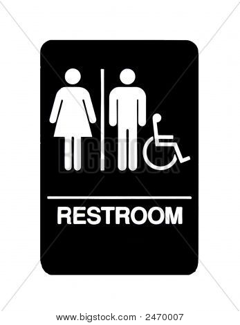 Unisex Handicapped Restroom Sign