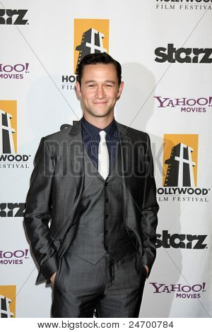 LOS ANGELES - OCT 24:  Joseph Gordon-Levitt arriving at the 15th Annual Hollywood Film Awards Gala at Beverly Hilton Hotel on October 24, 2011 in Beverly Hllls, CA