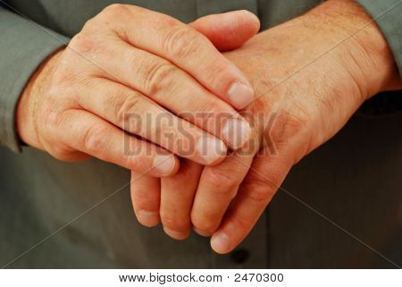 Painful Rheumatism In Senior Man'S Hands