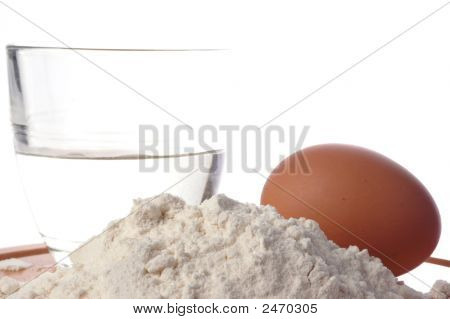 Egg, Water And Flour