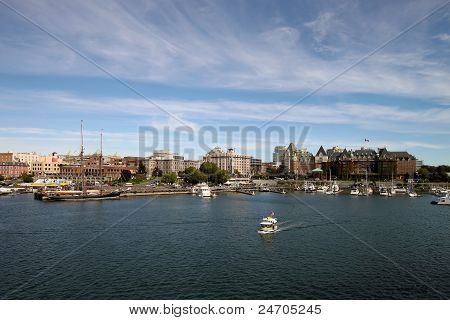 Victoria Bc Inner Harbour City Skyline