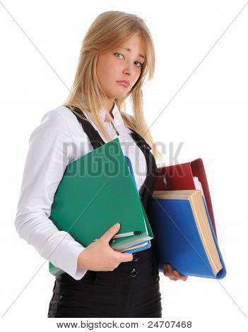 The Girl Carrying Folder