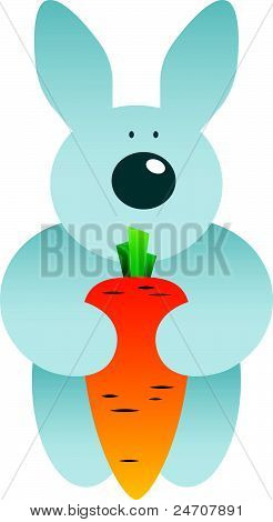 Cartoon Hare And Carrot.eps