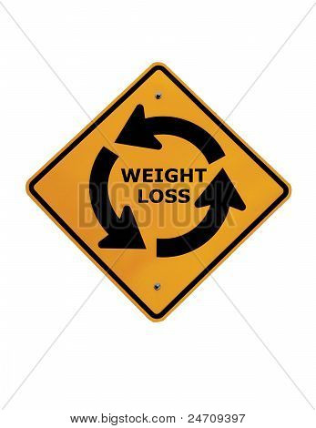 Weight-loss Circle Street Sign