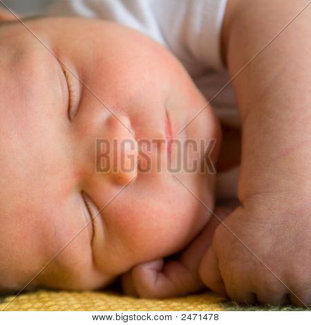 Newborn Baby Sleeping.