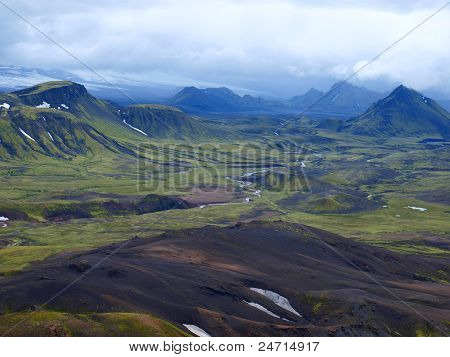 Laugavegur, Iceland, north west of the Myrdalsjokull