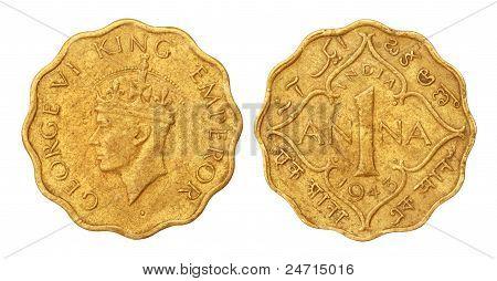 Moneda de Ana un indio viejo de 1943