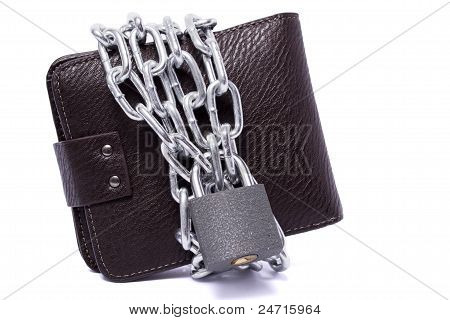 Dark Brown Wallet With Chain
