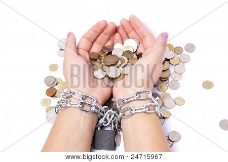 Hands Chained To The Bank The Money Saved