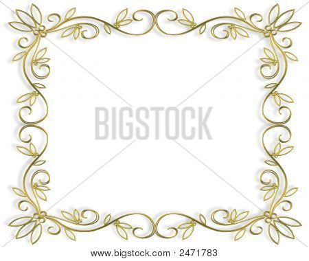 Gold Filigree Frame