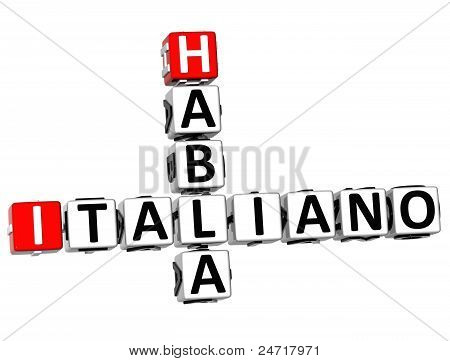 3D Habla Italiano Crossword