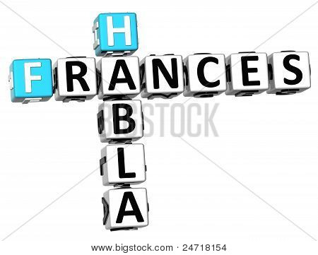 3D Habla Frances Crossword