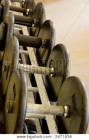 Row Of Freeweights