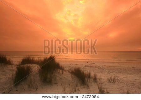 Sunset On A Beach In Florida 2