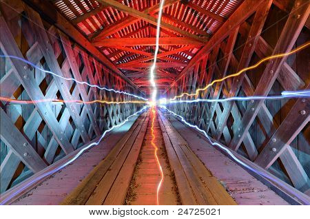 Lichtstrahlen In einem Tunnel