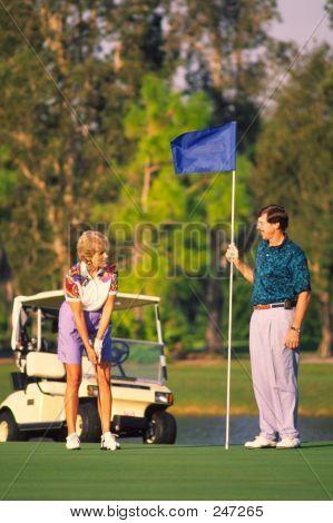 Couple Golfing 2