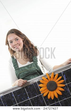 girl with panel