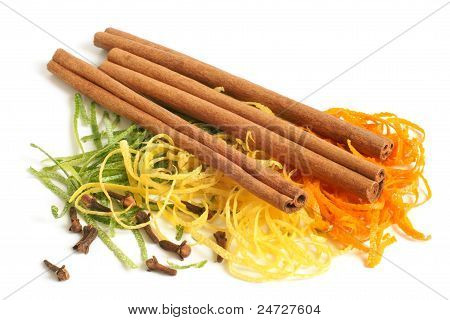 The Composition Of Citron, Cinnamon And Cloves