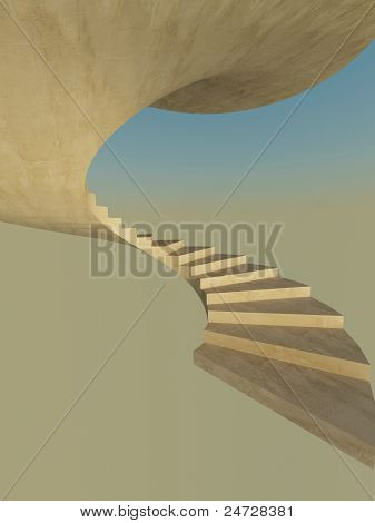 Beginning Of Spiral Staircase