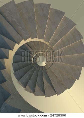 Escada em espiral abstrata