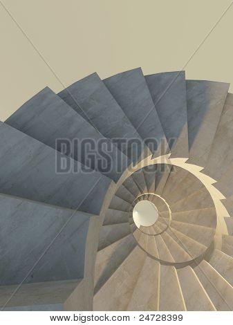Escadaria abstrata