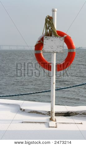 Life Preserver On Stand