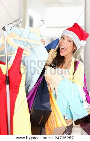 Christmas Shopper Excited