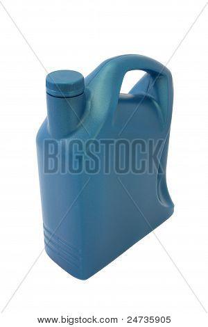 Lubricant oil plastic container