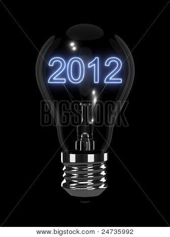 New Year 2012 Light Bulb