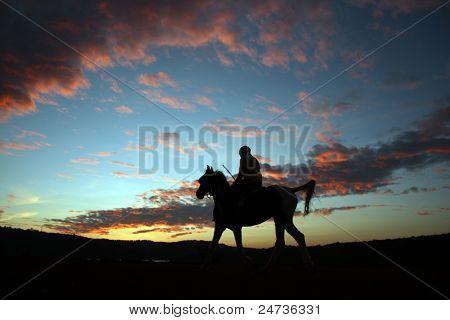 Sunset Horserider
