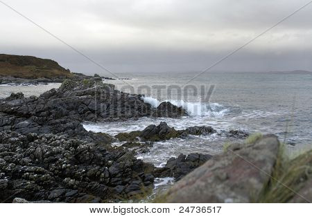 Rocky Coast In Scotland