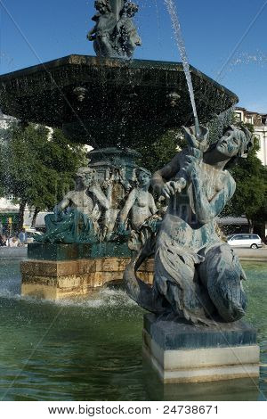 Rossio fountain