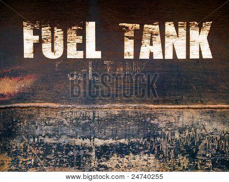 Tanque de combustível de aço ferrugem