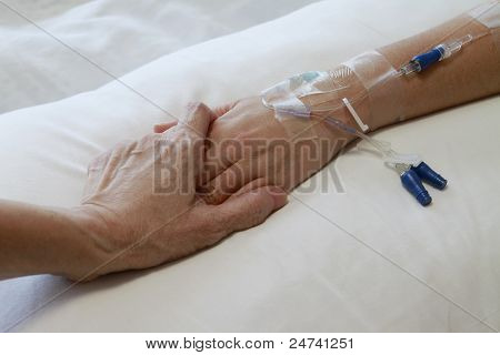 Hand with IV Drip